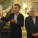 De izq. a der.: Alejandro Bulgheroni, Mauricio Macri, Mario Das Neves y Omar Gutierrez