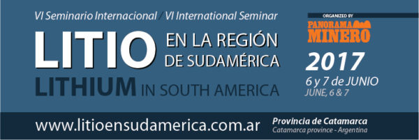 """""""VI Seminario Internacional: """"Litio en la Región de Sudamérica"""""""