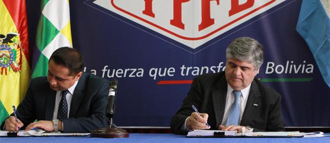 YPF garantiza recursos para explorar gas en un bloque boliviano.