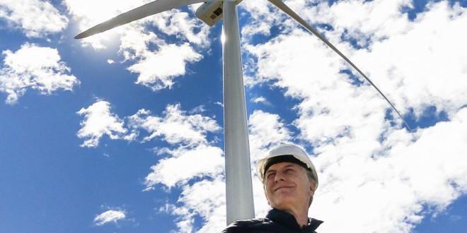 Macri visitó el parque eólico más grande de la Argentina